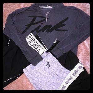 VS PINK Outfit Bundle pullover, tee & leggings